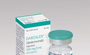 Упаковка препарата «Дарзалекс» (Darzalex).