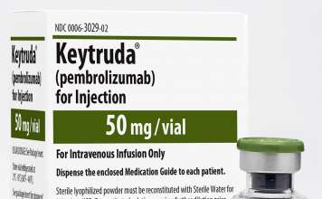 Упаковка препарата «Кейтруда» (Keytruda, пембролизумаб).