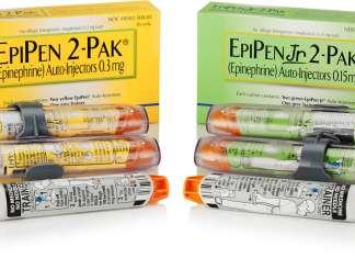 Упаковка «ЭпиПен» (EpiPen).