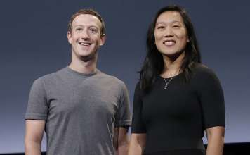 Mark Zuckerberg and Priscilla Chan.