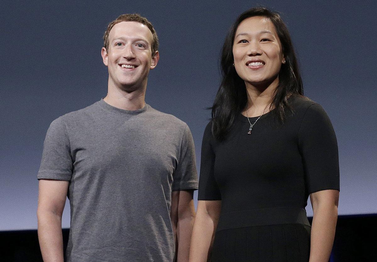 Mark Zuckerberg and Priscilla Chan.