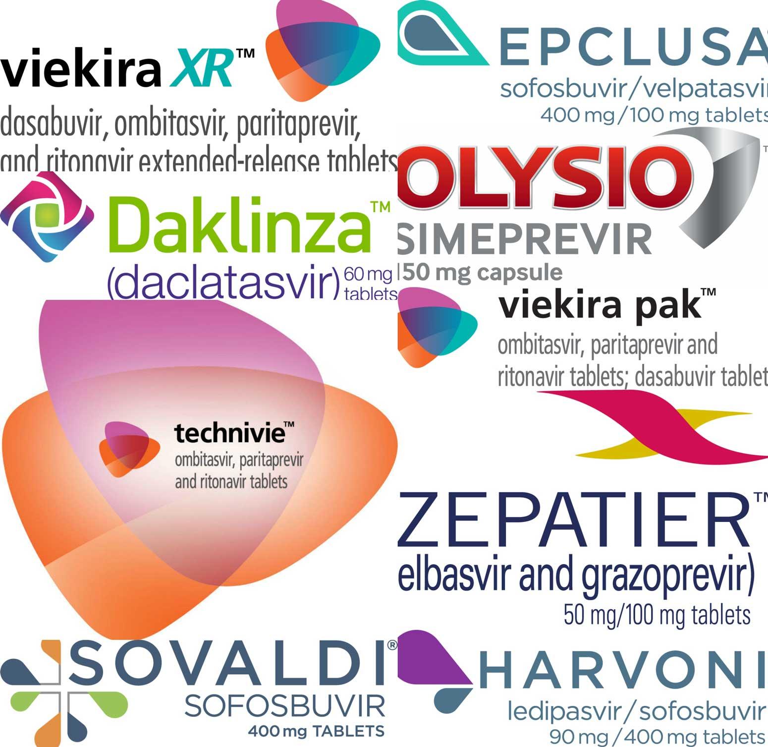 Антивирусные препараты прямого действия против вирусного гепатита C.