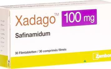 «Ксадаго» (Xadago, сафинамид).