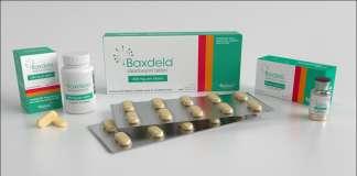 Упаковка препарата «Баксдела» (Baxdela, делафлоксацин)