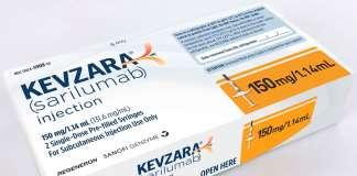 Упаковка препарата «Кевзара» (Kevzara, сарилумаб).