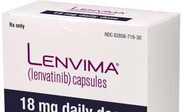 Упаковка препарата «Ленвима» (Lenvima, ленватиниб).