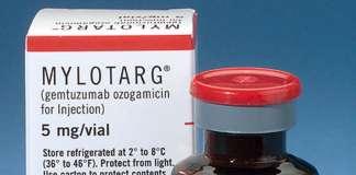Упаковка препарата «Милотарг» (Mylotarg).