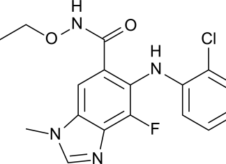 Селуметиниб (selumetinib).