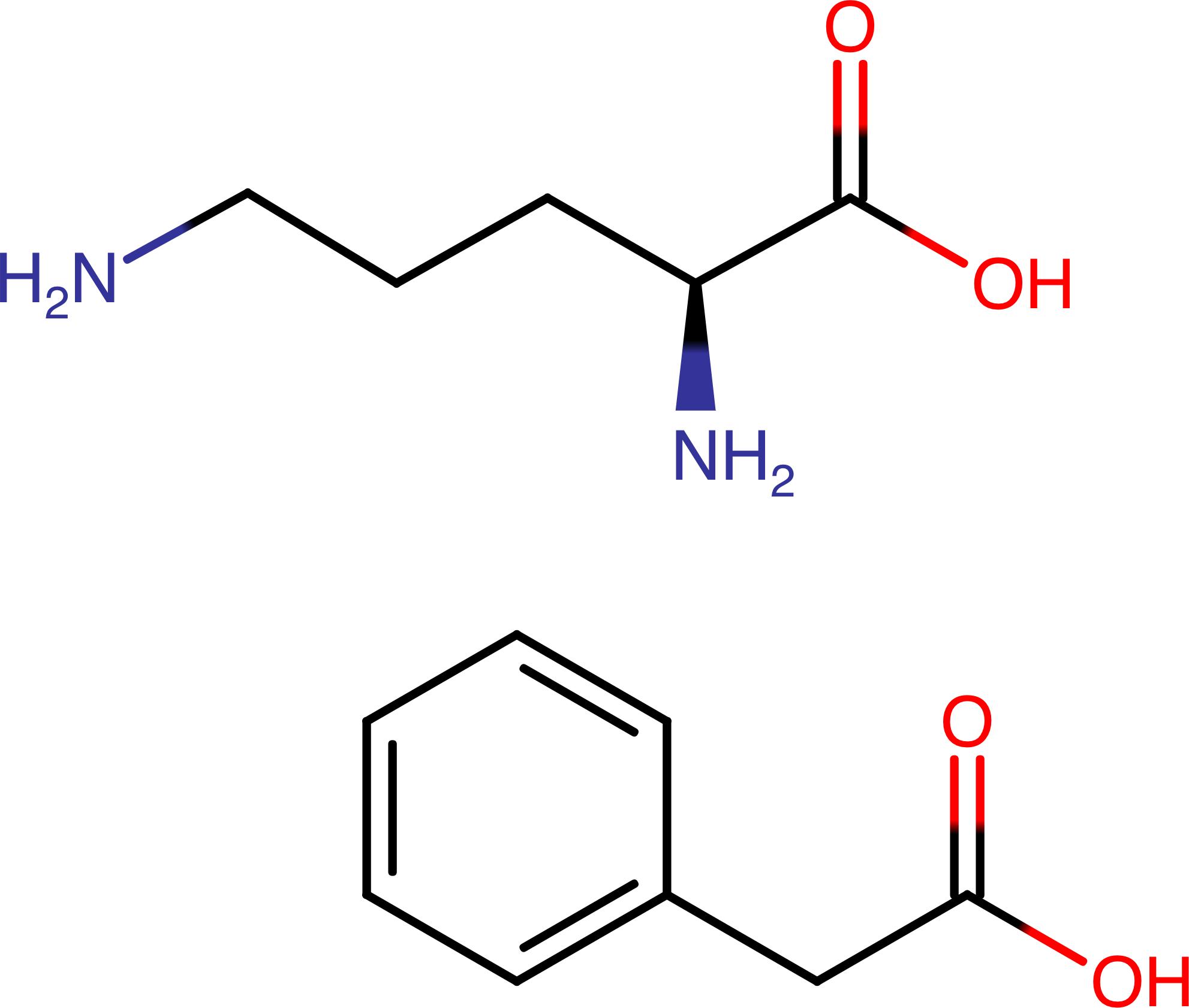 Орнитина фенилацетат (ornithine phenylacetate).
