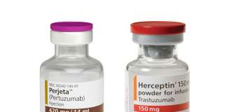 «Перьета» (Perjeta, пертузумаб) и «Герцептин» (Herceptin, трастузумаб).
