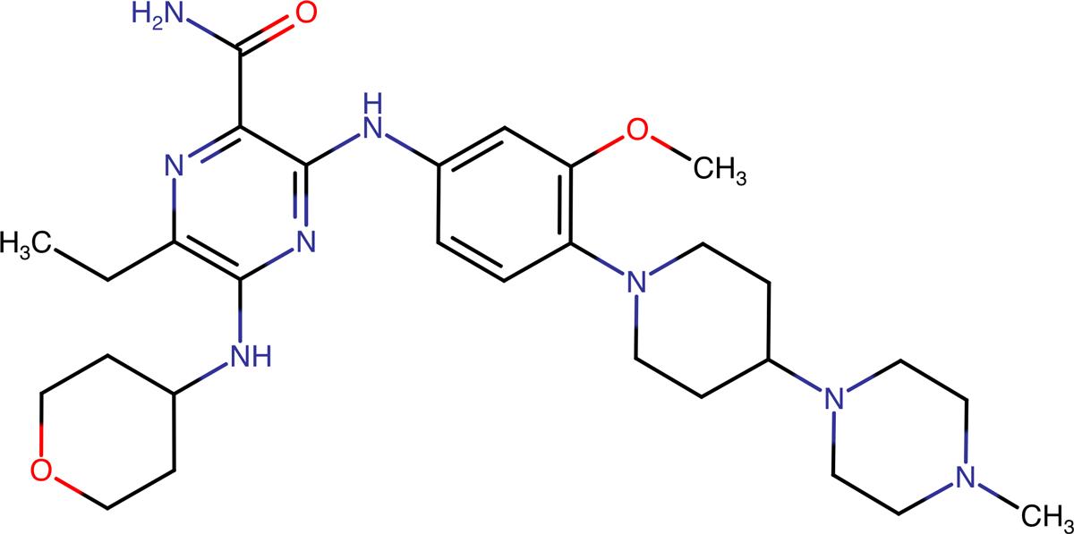 Гилтеритиниб (gilteritinib).