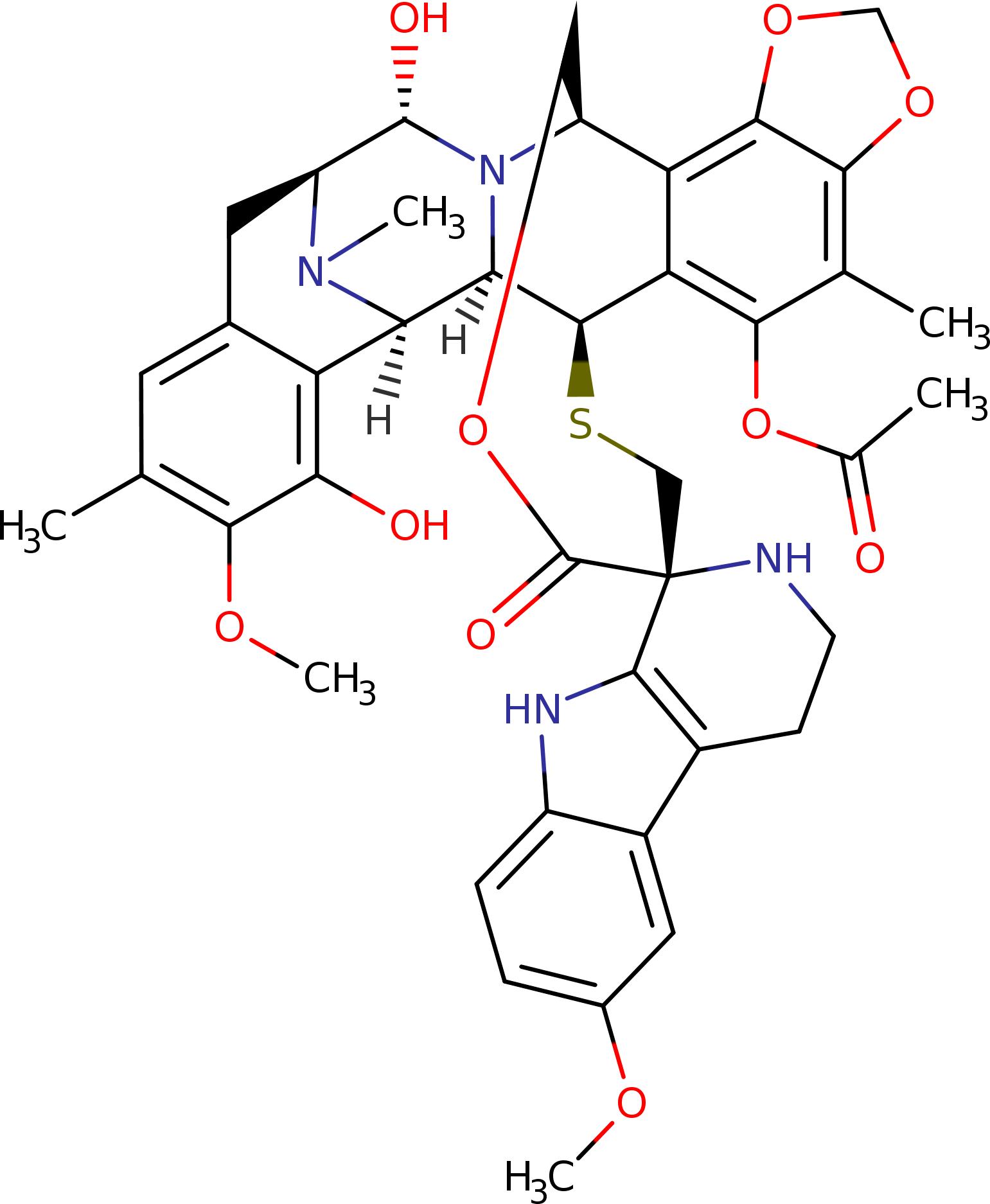 lurbinectedin structure - «Зепзелка»: новое лекарство против мелкоклеточного рака легких