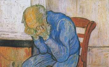 Van Gogh. Trauernder alter Mann.