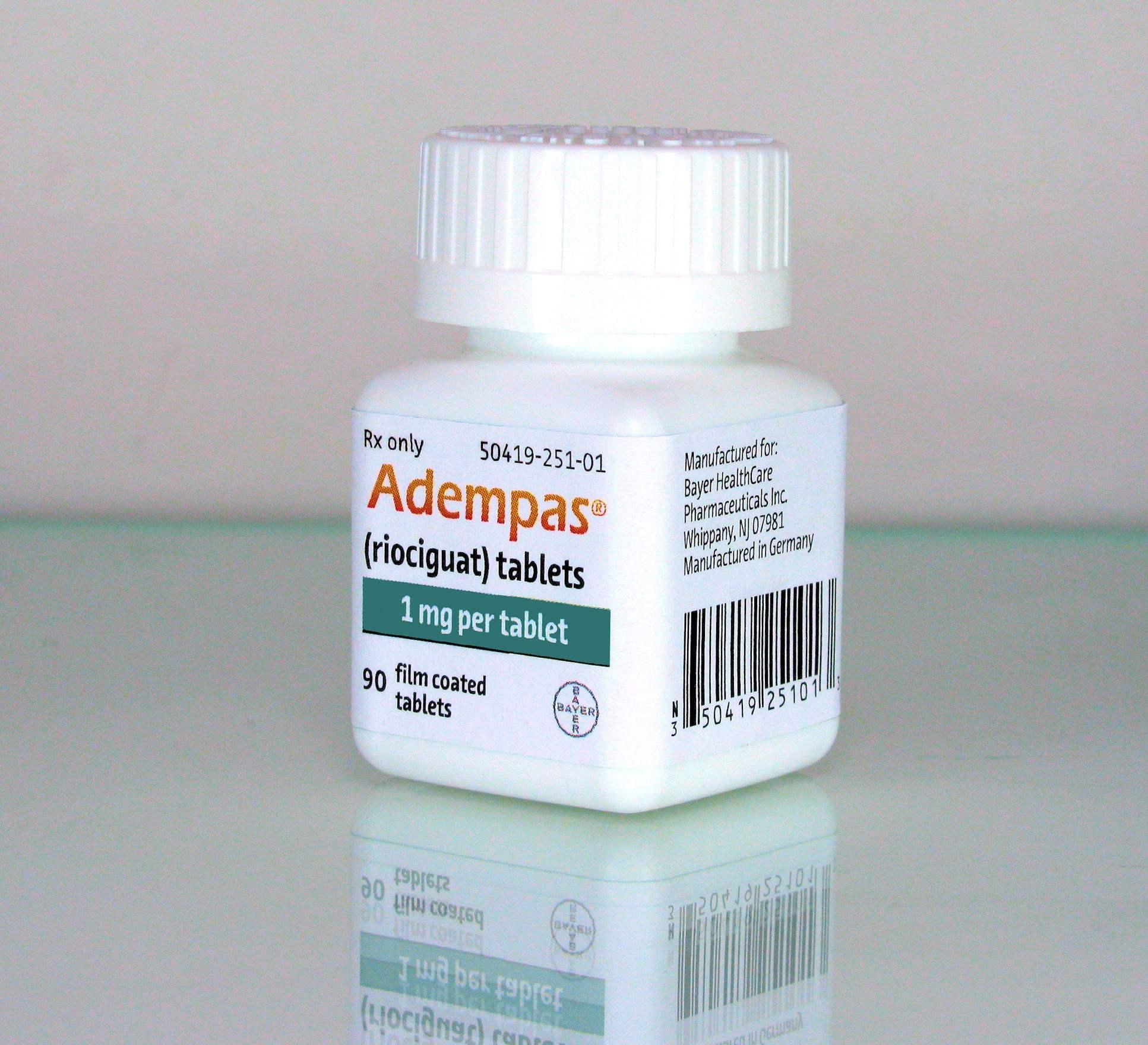 Упаковка препарата «Адемпас».